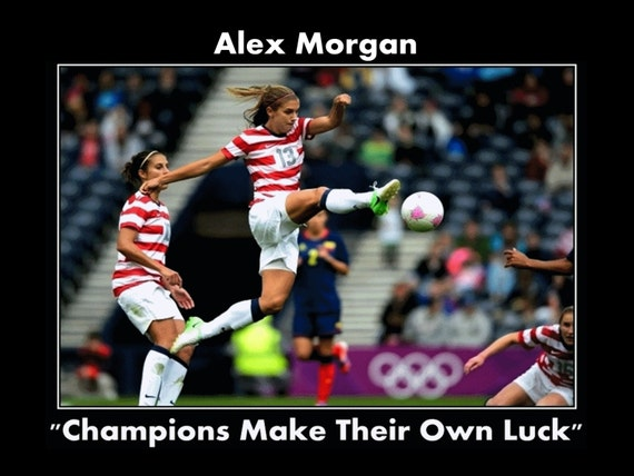 Soccer Star Inspirational Poster Champion Quote Wall Decor
