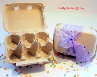 Egg Cartons - Gray Recycled Pulp - Set of 3
