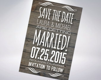 Rustic Save-The-Dates; Postcard Optional