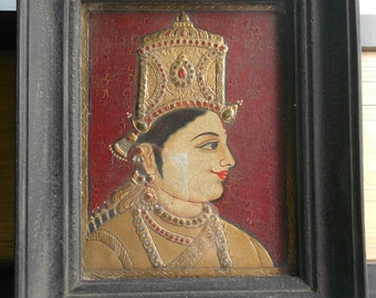 Antique Tanjore Paintings.South India Gilded Paintings.
