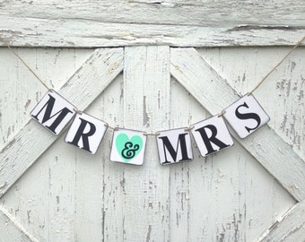 Mr. and Mrs. Wedding Banner, Wedding Signs