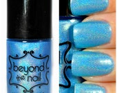 Asteroid - Summer Galaxy Nail Polish - Neon Blue and Holographic