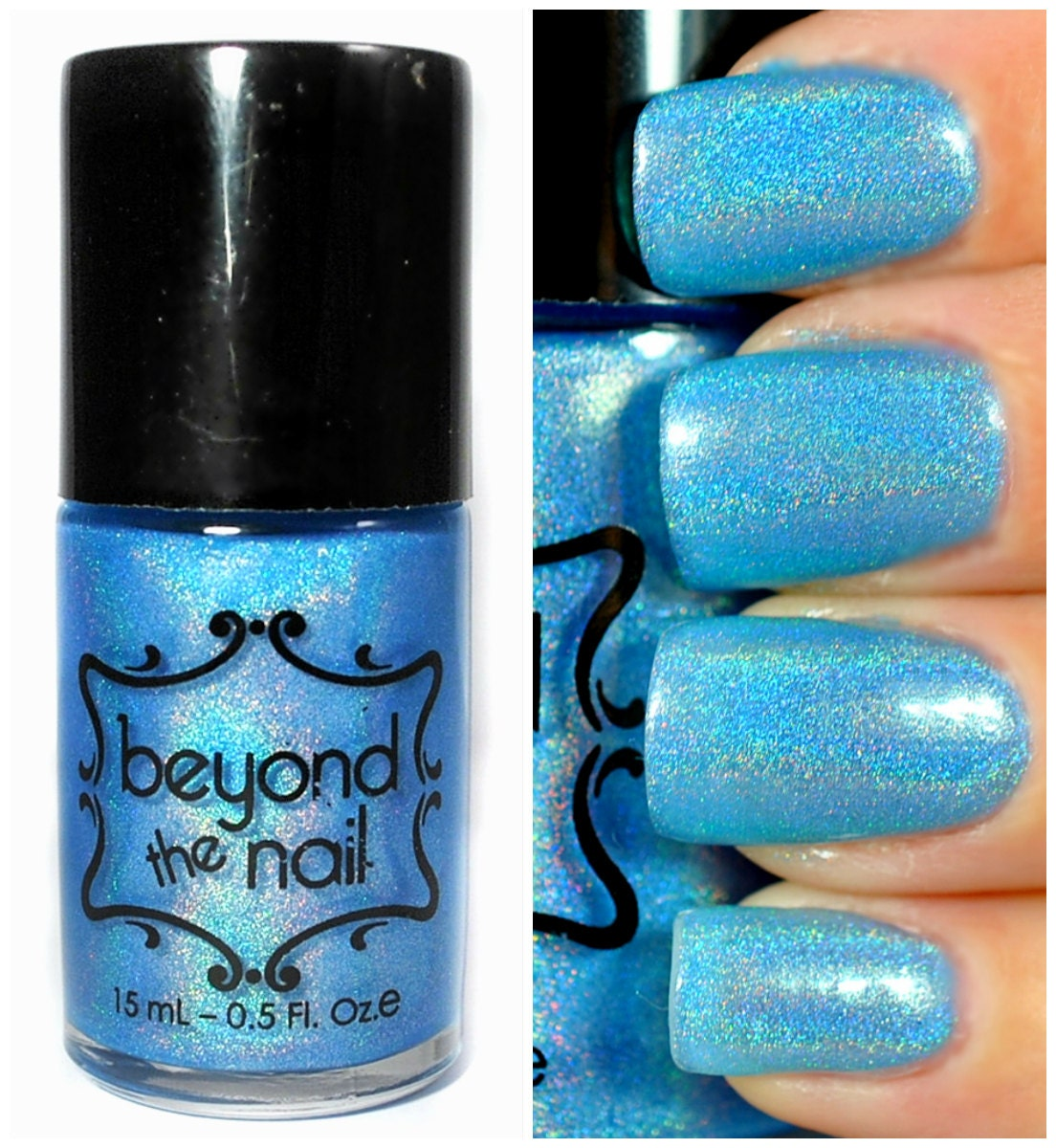 Neon Blue Nail Polish: Asteroid Summer Galaxy Nail Polish Neon Blue And