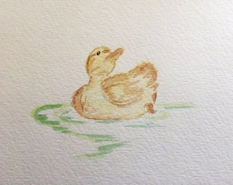 Make Way For Ducklings watercolor (one)