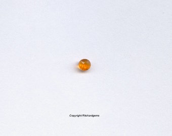 3mm Faceted Round Brilliant Orange Mexican Fire Opal
