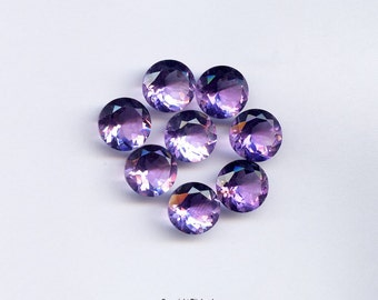 10mm Faceted Semi Precious Natural Round Brilliant Cut Brazilian Amethyst AAA For One