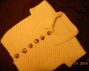 baby boy waistcoat, bodywarmer, vest ,hand knitted waistcoat, knitted vest,ivory bodywarmer,boys baby boy sweather,boys vest,