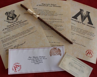 Hogwarts Acceptance Letter with Wizard Wand