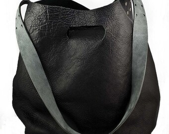 Leather Bag - Leather Shoulder Bag, Black bag, Tote Bag, Handbag