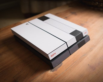 Retro NES-Style Game Console Skin for Sony PS4