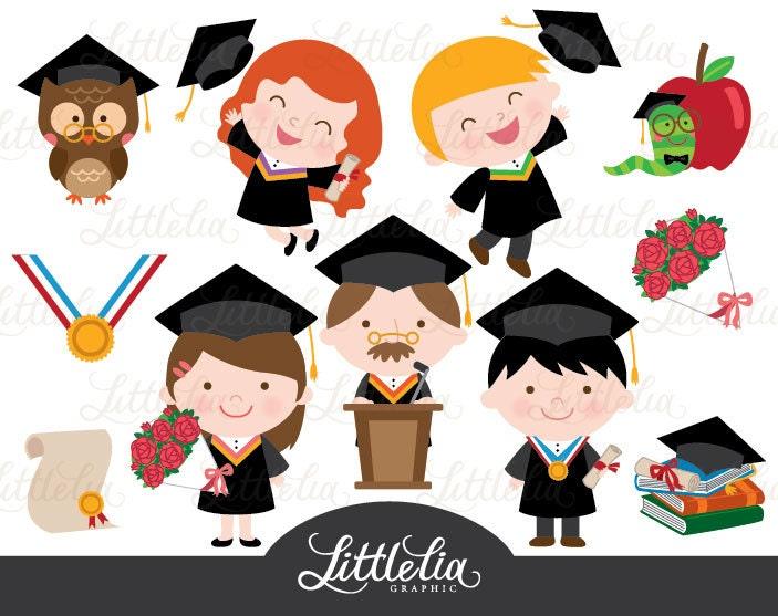 Graduation Celebration Clipart 14035 Instant Download
