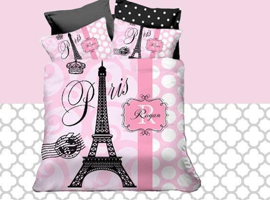 ensembles de douillette de lit literie de la tour eiffel. Black Bedroom Furniture Sets. Home Design Ideas