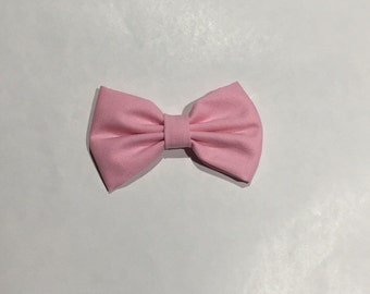 baby pink / pale pink bow tie.  Bow headband