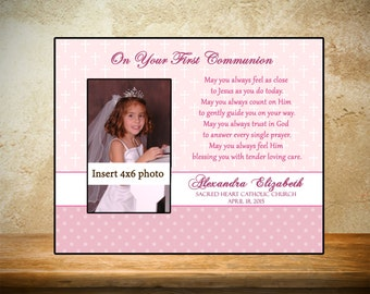 Personalized First Communion Frame - Pink Theme