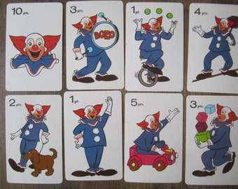 28 Vintage Clown Game Cards