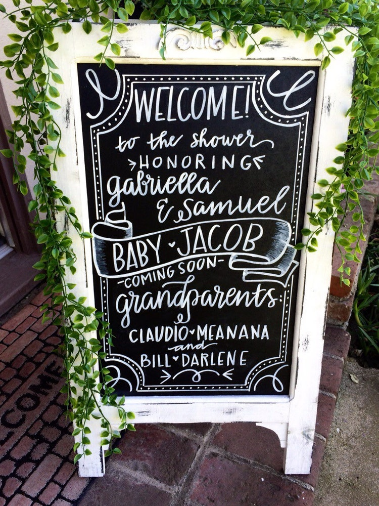 Baby Shower Chalkboard Baby Shower Sign By