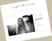 Blogger Template - Light Minimal