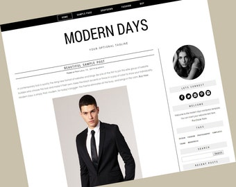 Responsive Wordpress Theme - Modern Days