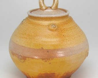 Salt-Fired Jar with Lid