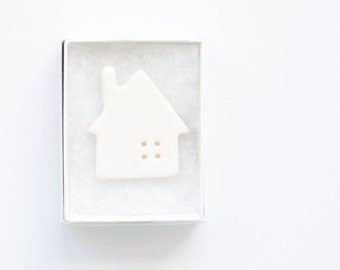 Little house porcelain brooch   pin brooch  ready to dispatch