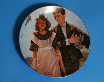 "8 1/2"" ""First Love"" Rockwell's Gentle Memories Plate #1537 1985 Heritage House"