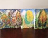 Blank Notecards - Set of 4 Autumn Scenes