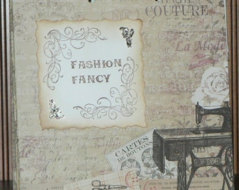 Fashion Fancy 2 ring Journal, Creativity Journal, Gift Journal, Journal, Writing Journal, 60 page Journal, Fashion Journal