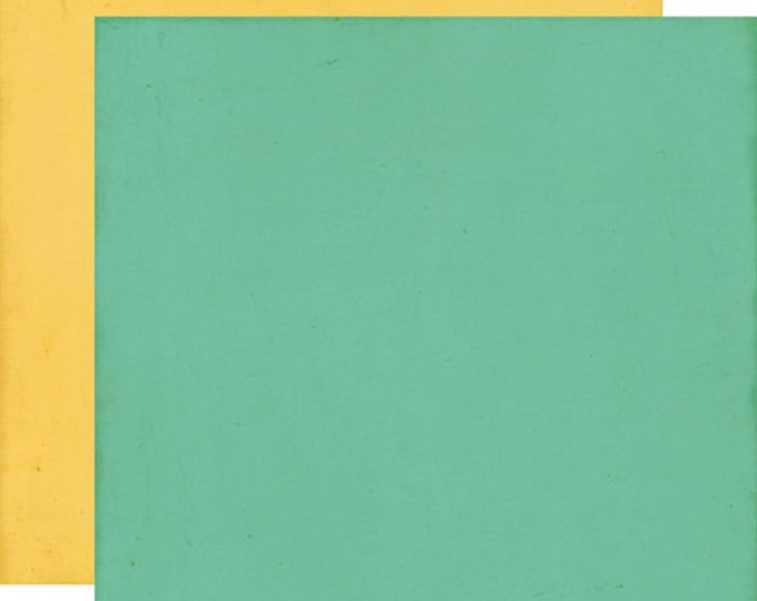 2 Sheets of Echo Park Paper THIS & THAT CHARMING 12x12 Scrapbook Paper - Teal/Yellow