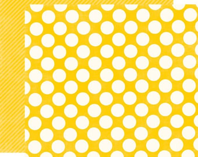 1 Sheet of Echo Park Paper DOTS & STRIPES Candy Shoppe 12x12 Scrapbook Paper - Lemon Drops Large Dots