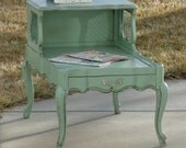 Shabby Chic French Provincial End Table / Nightstand