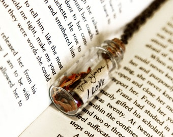 Love Letter in A Bottle Pendant