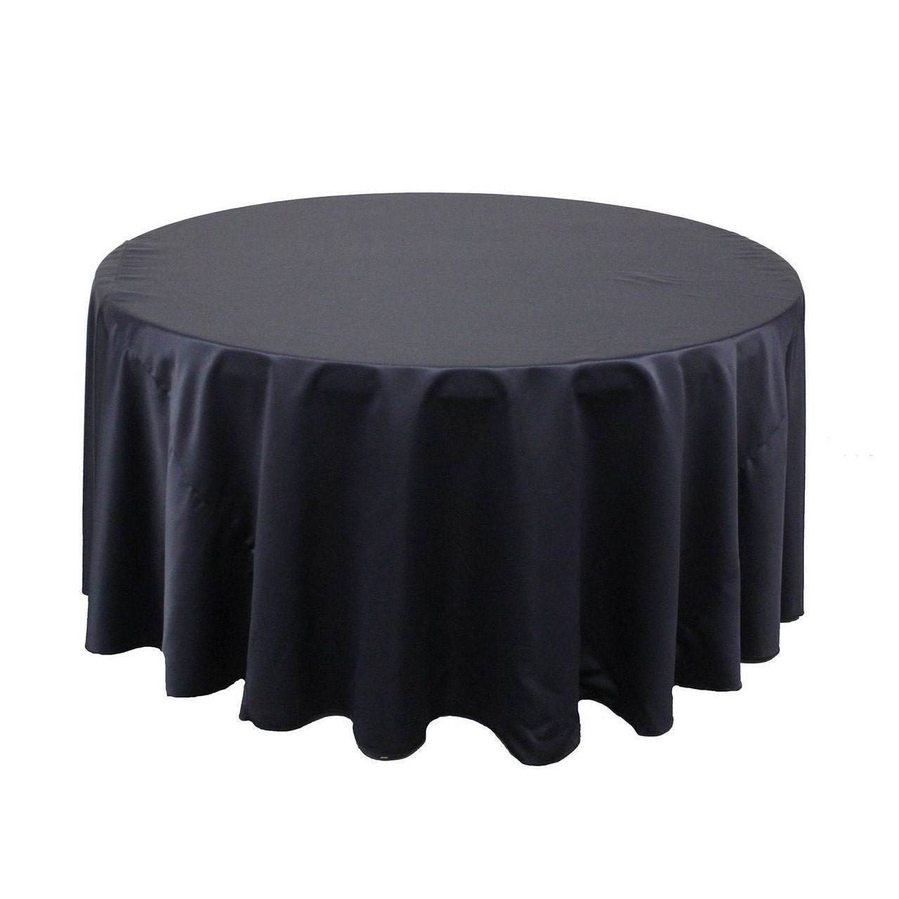 120 inch round lamour tablecloth navy blue wedding for 120 inch round table cloths