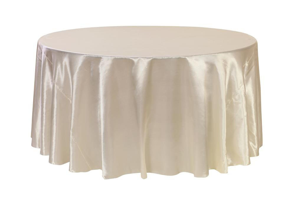 120 inch ivory satin round tablecloth wedding tablecloths for 120 table cloth
