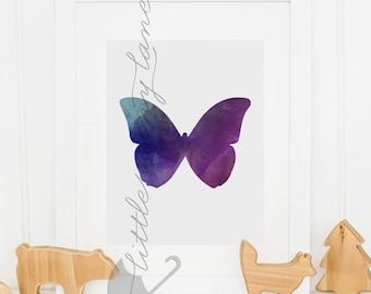 Nursery wall art - Butterfly - Butterfly art - nursery art - watercolor