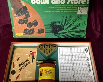 Vintage Game - BOWL AND SCORE - 1962 - Dice