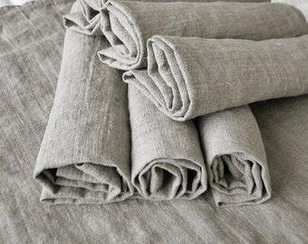 Natural softened linen napkins set of 50- historical table serving napkin- rustic weddings- eco friendly- handmade