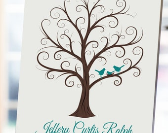 Baby Shower Fingerprint Tree -  8x10 Guest Book Tree - Guest Book - Baby Shower Guestbook - Sprinkle Guest Book - CB