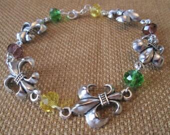 Mardi Gras Swarovski Bracelet by The Darling Duck