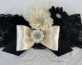 Black Headband/Infant Headband/Newborn Headband/Flower Headband/Girl Headband/Baby Girl Headband/Easter Headband/Baby Headband/Photo Prop