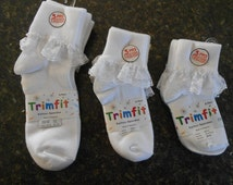 Snap socks!  Sock pairs with snaps .Girls 3 pack White, Trimfit white Easter or spring snap socks.
