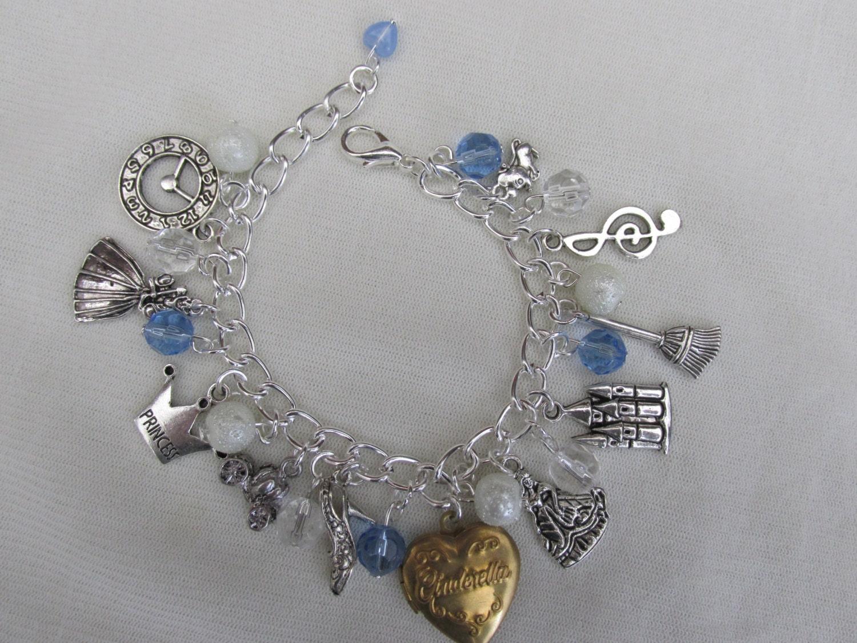 childs cinderella charms bracelet