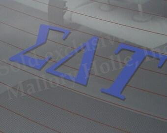 "Officially Licensed Sigma Delta Tau 8"" x 3"" Bumper Sticker / Window Decal"