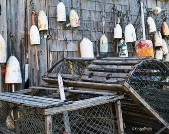 Lobster Traps n Buoys Nautical Fine Art Photography