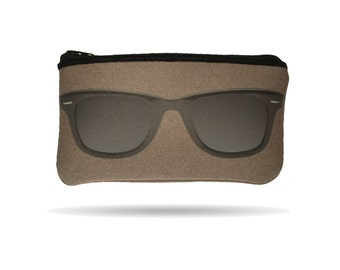 Wayfairer Sunglasses Image Hand Printed Geeky Eyeglass Case