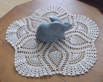 Crochet Doily in Ecru Cream