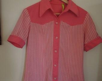 Rockabilly Gal - Pink Gingham Top