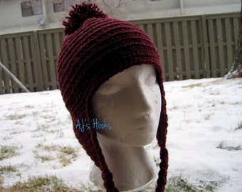 Hat. Crocheted Hat With Pom-Pom.
