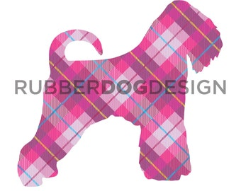 Soft Coated WHEATEN TERRIER (Undocked) Tweed Design - Digital Clip Art Graphics for Personal or Commercial Use