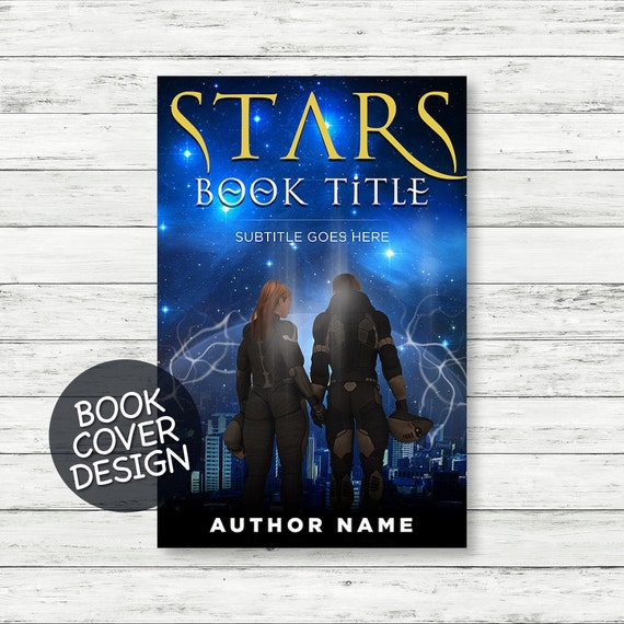 Book cover design / ebook cover / kindle cover / cover design ready for print / sci-fi novel cover + matching back cover + spine design