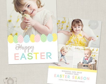 Easter Card Template for Photographers - 5x7 Flat Photo Card - C262 - Instant Download
